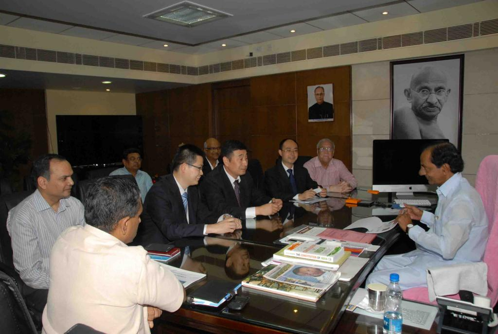 Hon ble CM of Telangana (Meeting with China Delegates) on 12.8.2014 Gallery