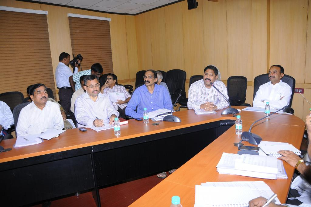 Minister Etela Rajender is in a meeting on Civil Supplies Departments at Secretariat on 7.8.2014. Ga