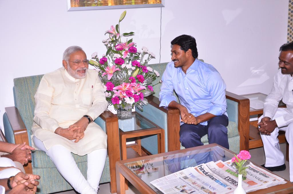 YS Jagan Mohan Reddy Representation submitted by Narendra Modi Gallery
