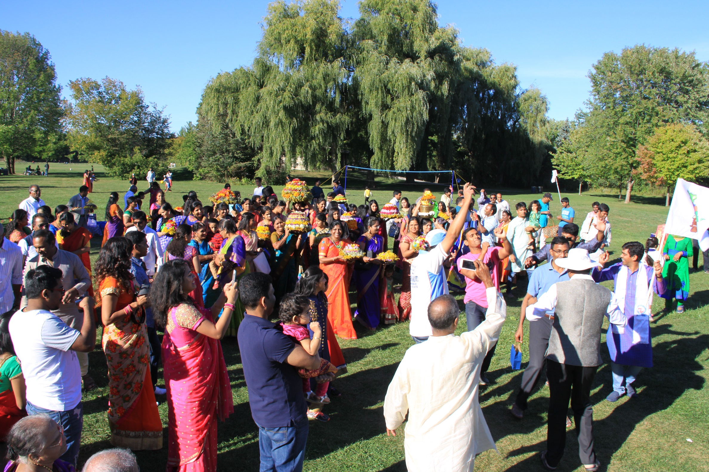 Telangana Development Forum, Canada Bathukamma Sambaralu at Meadowvale Park in Mississauga, Ontario (Province) on September 24th, 2016.