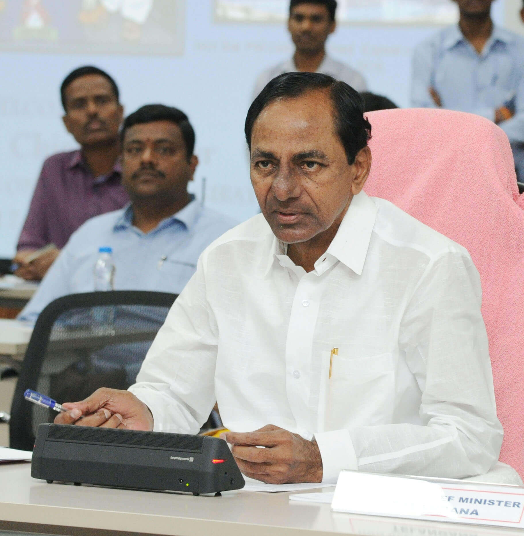 Telangana Chief Minister K.Chandrasekhar Rao review meeting on Mission Bhagiratha at Pragathi Bhavan on 24.1.2017.