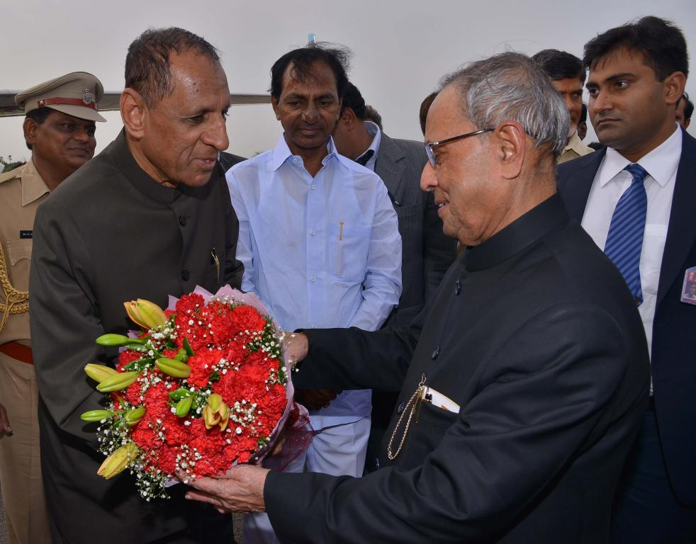 President of India, HE Pranab Mukherjee departure at Begumpet Airport on 02-08-2014 Gallery