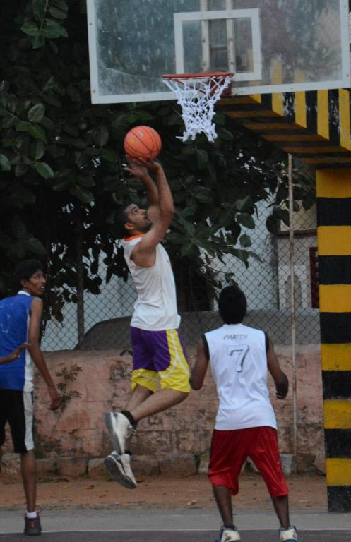 3rd achen subhash memorial basketball tournment for men at sanathnagar GHMC ground from 6th to 9Aug