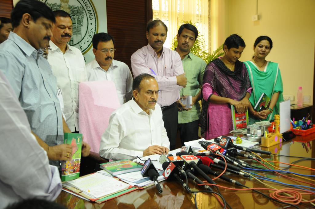 Dy.CM Mahamood Ali is releasing Telangana Sub Registrars Hand Book  at Secretariat on 7.8.2014. Gall