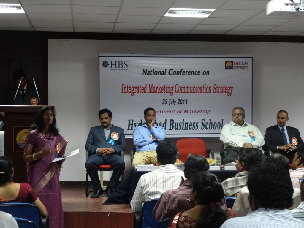 National Conference at HBS of GITAM University on 7.8.2014 Gallery