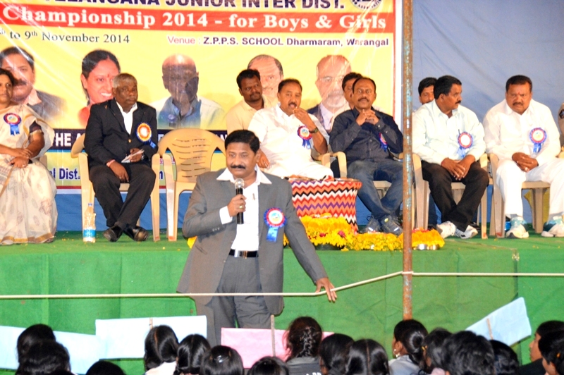 PARTHASARATHY I.A.S. PARTICIPATE AS A CHIEF GUEST IN STATE LEVEL JUDO-MEET AT WARANGAL ON. 7-11-2014