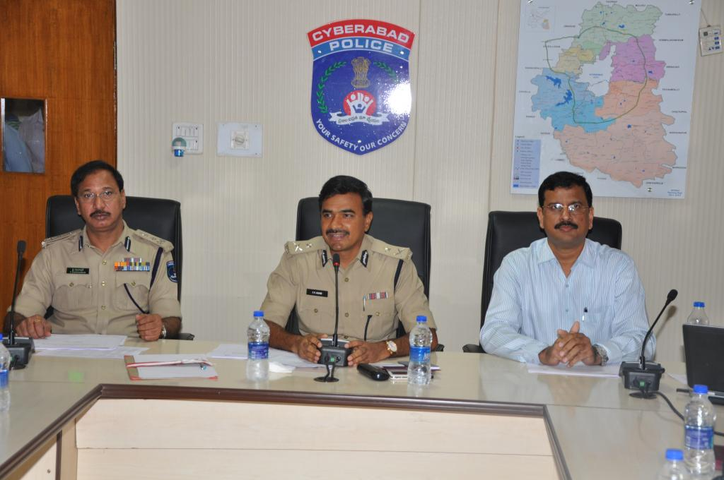 Security Counil (SCSC) executive committee Meeting by Cyberabad CP at Commissionerate on 07-08-14 Ga