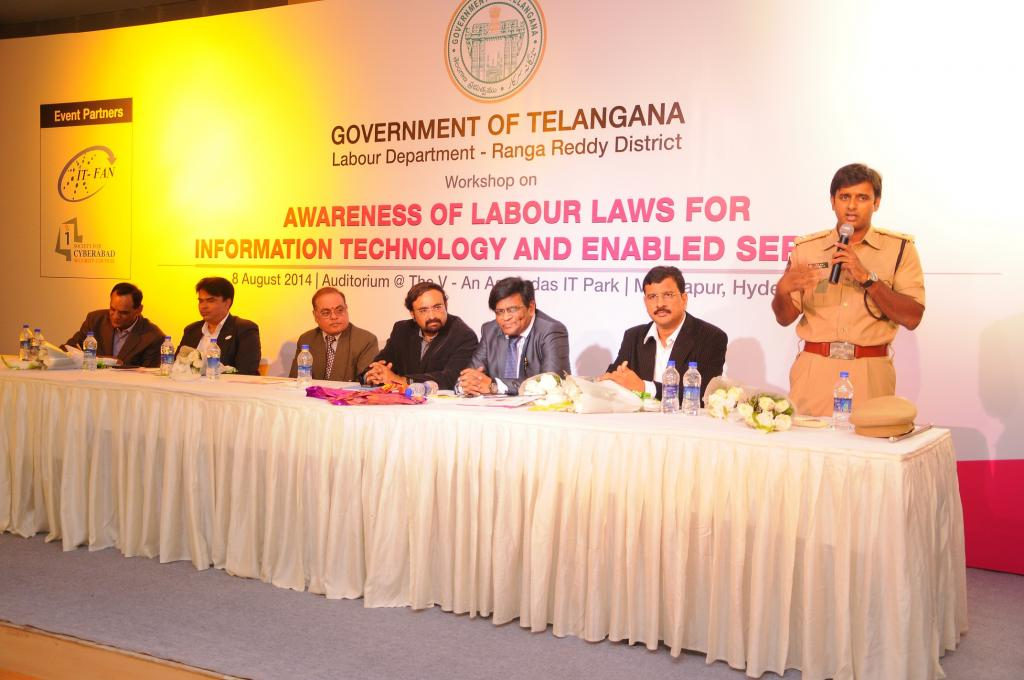 WORK SHOP ON AWARENESS OF LABOUR LAWS FOR INFORMATION TECHNOLOGY AND ENABLED SERVICES ON AUG8.2014 G