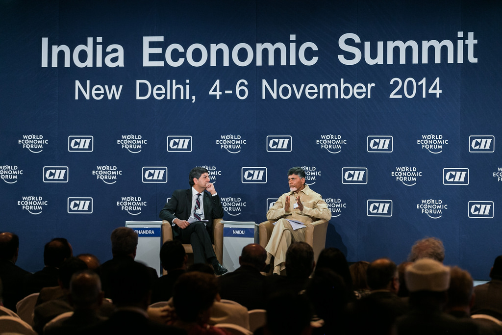 CM AP Babu at World Economic Summit held at Delhi on 06.11.2014 Gallery