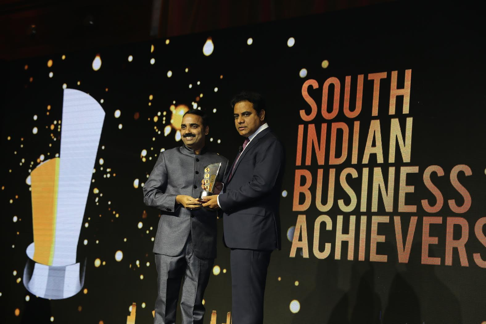 Telangana Minister KT Rama Rao in South India Business Achievers awards in singapore on 29.6.2016