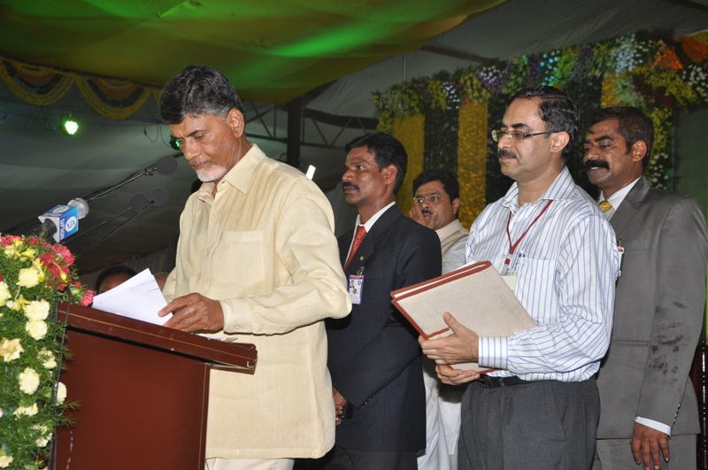 N.Chandrababu Naidu Swearing in ceremony at Guntur on 08.06.2014 Gallery