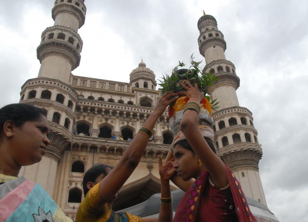 Telangana CM KCR offering Gold Bonam at Mahankali Temple, Lal Darwaza on 20.07.2014 Gallery