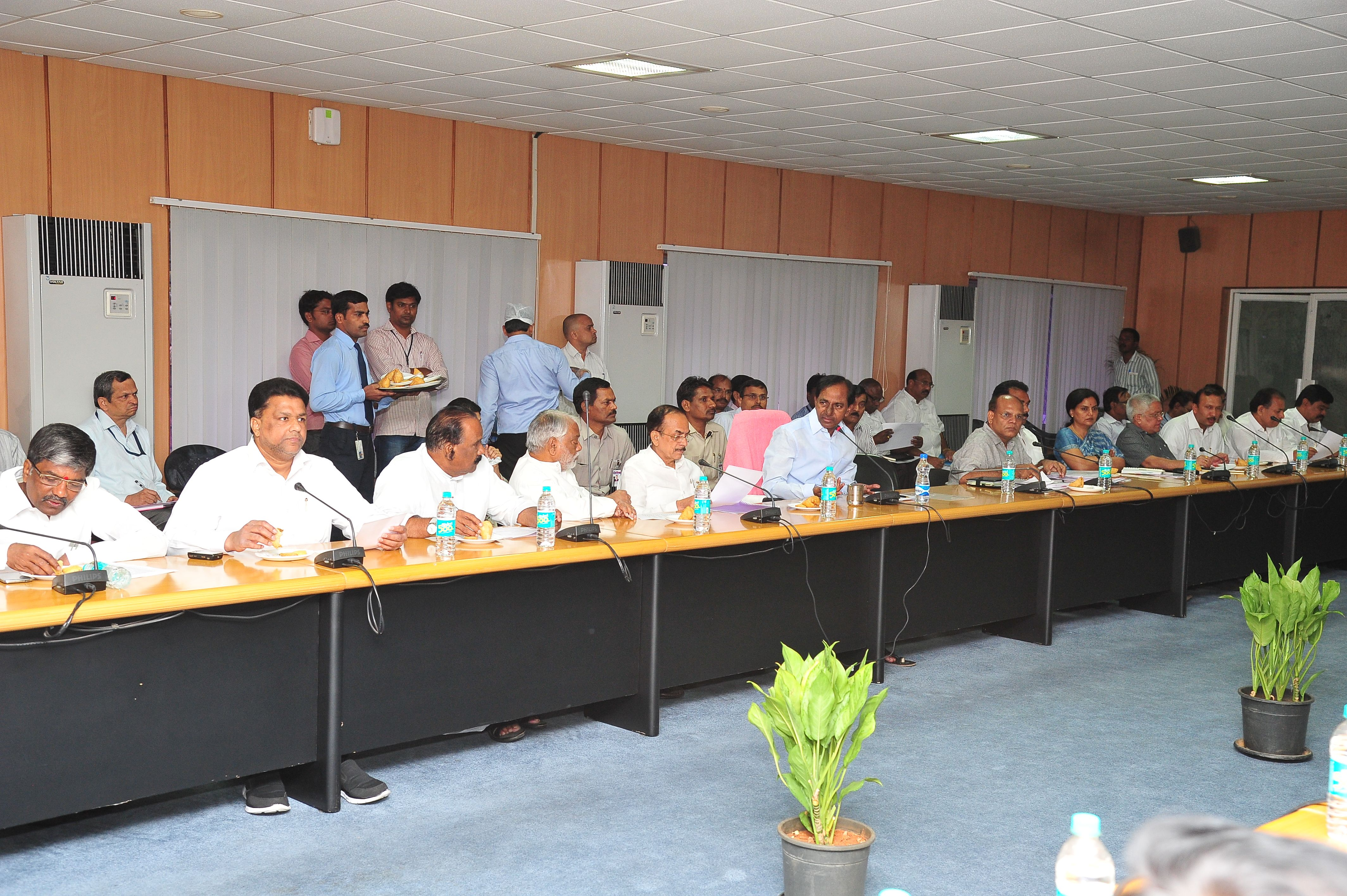 TS Chief Minister K.Chandrashekhar Rao held a meeting with Public Representative of GHMC at MCRHRD Institute on 26.05.2015
