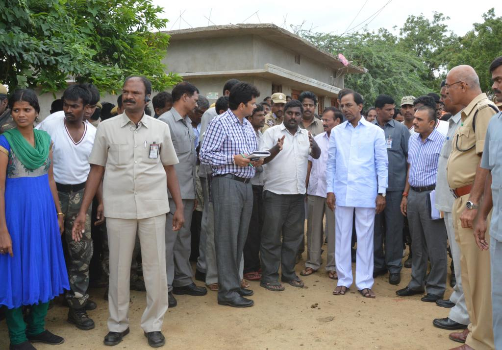 Telangana State CM KCR visit villages on 08-08-2014 Gallery