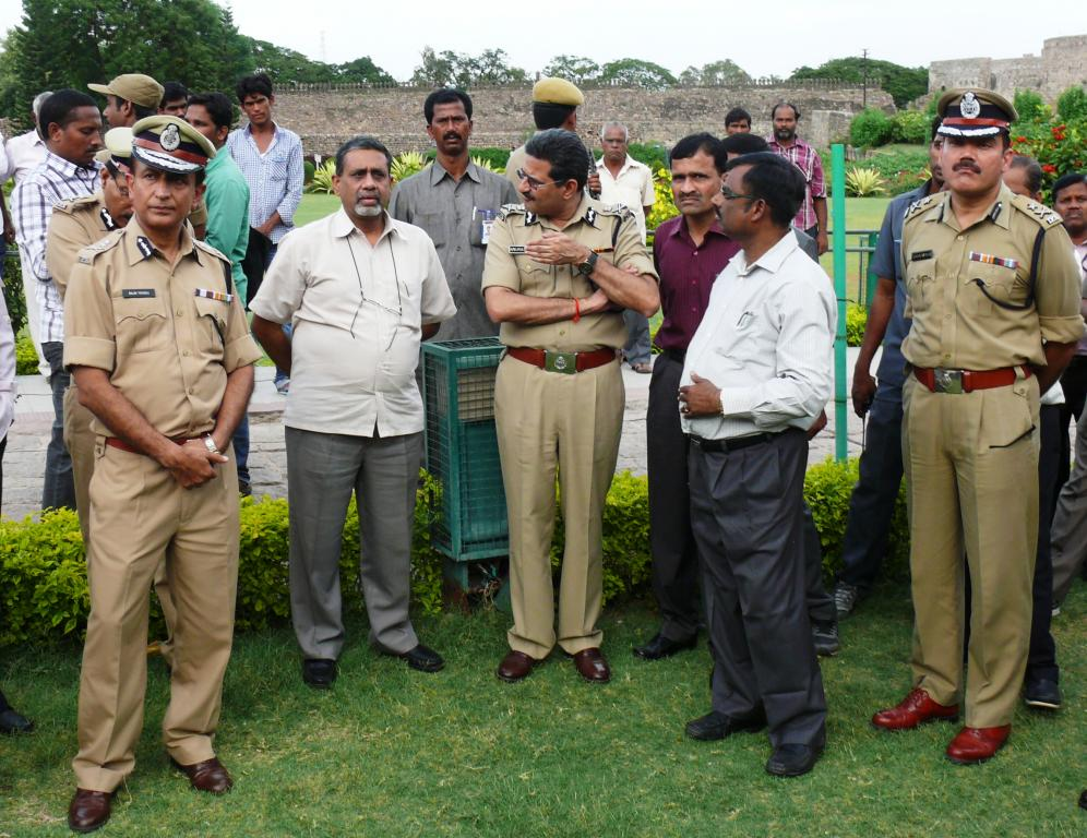 ARMED RESERVE POLICE INDEPENDENCE DAY PARADE AT GOLCONDA FORT ON 7.8.2014, VISITED DGP ANURAG SHARMA