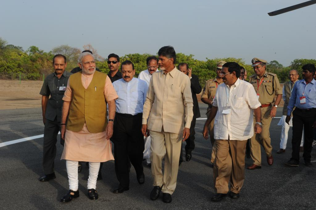 AP CM N.Chandrababu Naidu and Prime minister of Inida visits Launch Pad at Sriharikota on 29.06.2014