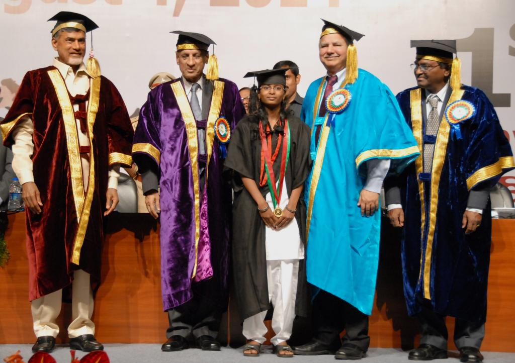 Ap CM CHANDRABABU, GOVERNOR NARASIMHAN AT THE 1ST CONVOCATION OF RGUKT AT HICC, HYDERABAD ON AUG 4 G