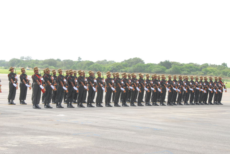 HE President taking Guard of Honour at Begumpet Airport on 02-08-14, during his first visit to TS Ga