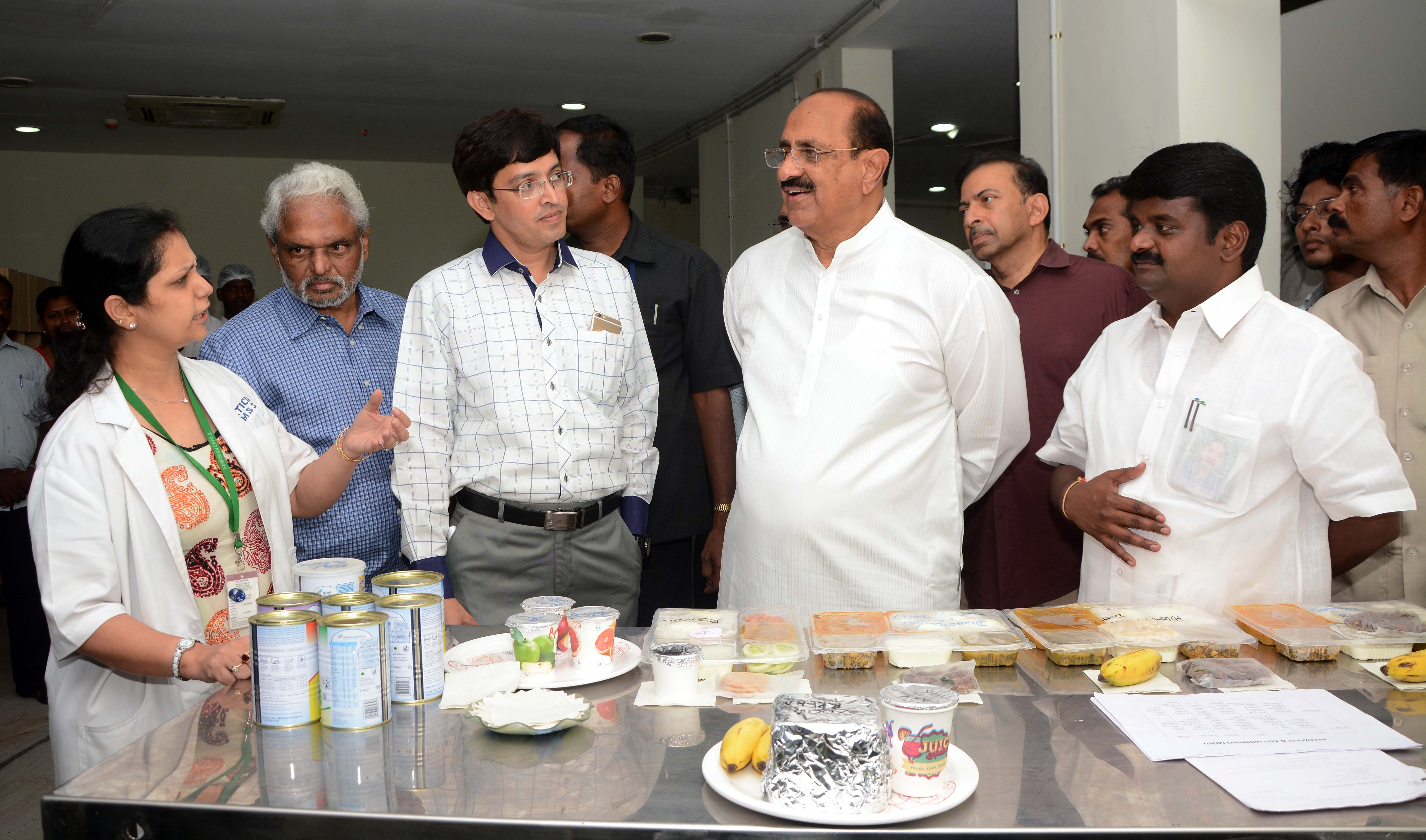 A.P Health Minister Kamineni Srinivas observing the functioning of CT Scan Machine in government hospital in Chennai on Tuesday. Kamineni Srinivas held discussions with officials of Tamil Nadu Health department and Health Minister, Tamil Nadu Governo