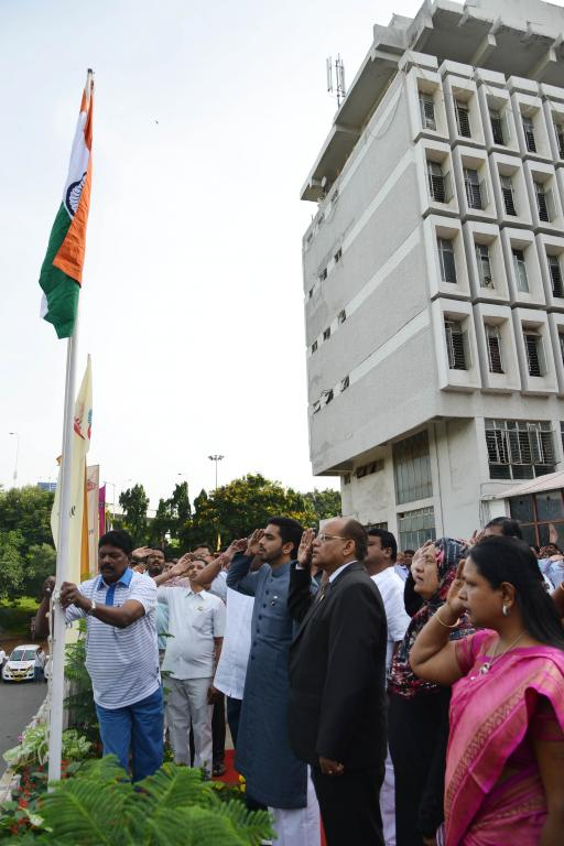GHMC - PRESS RELEASE ON INDEPENDENCE DAY CELEBRATIONS AT GHMC HEAD OFFICE 15.8.14 Gallery