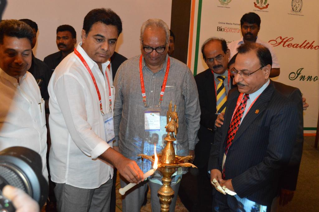 Minister of IT KT Rama Rao inaugurates the Indo Global Healthcare Summit here in city on 20.06.14 Ga