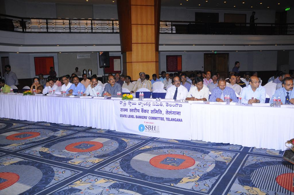 SLBC meeting of TS has been conducted at hyd on 8.8.2014. CS of TS Rajeev Sharma and others also att