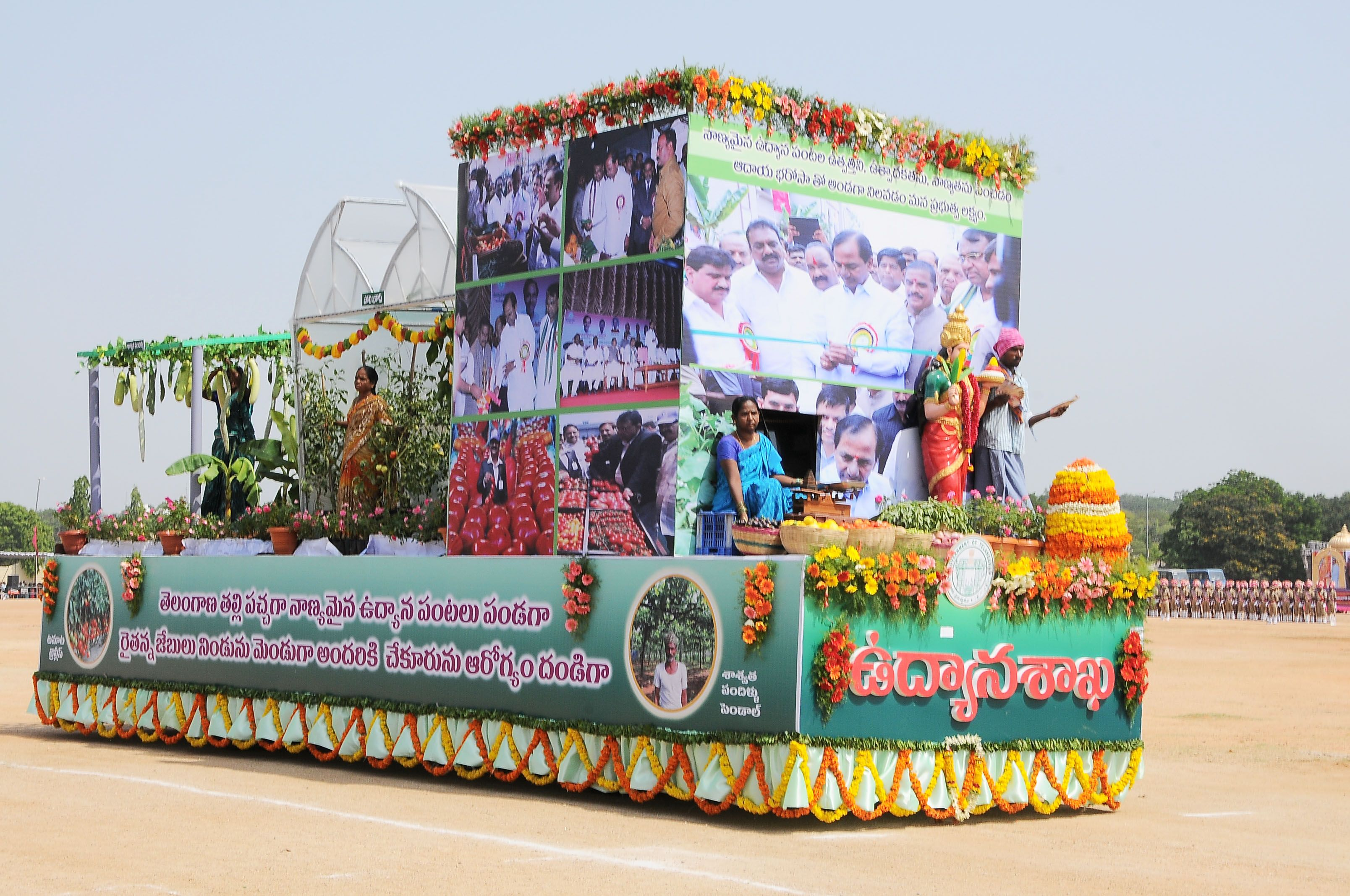 Telangana Chief Minister K.Chandrashekhar Rao participated in Telangana State Formation Day Celebrations on 2.6.2015.