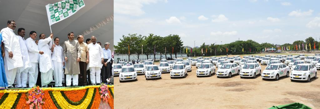GHMC-PRESS RELEASE ON FLAGGING OFF CEREMONY WITH REGARD TO OWNER CUM DRIVER SCHEME GALLERY