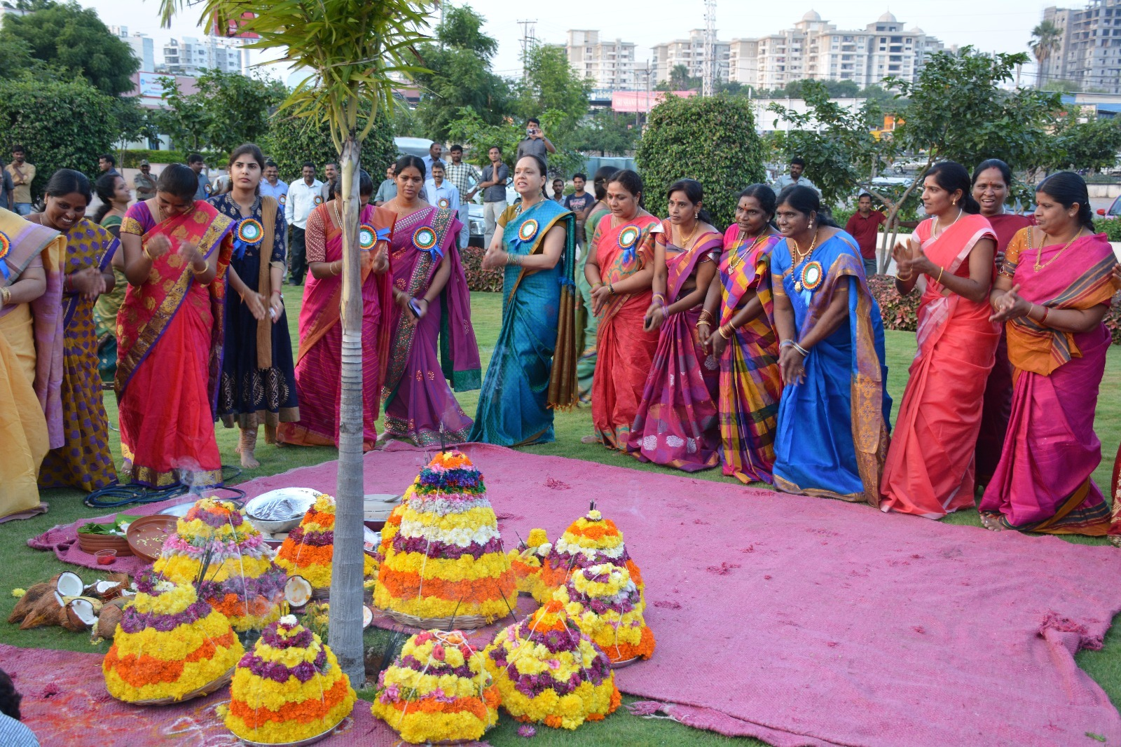 Batukamma festivel programme in Police commissioner office cyberabad on 19.10.15