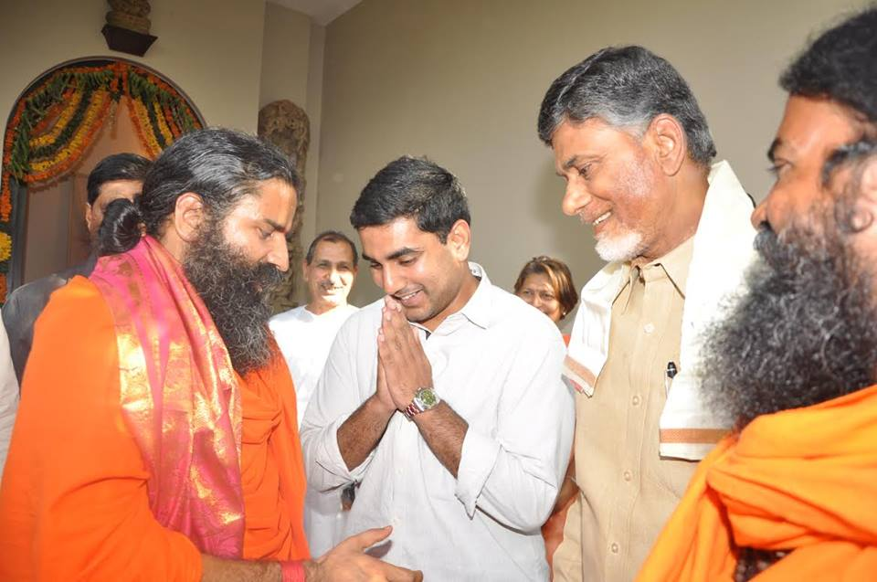Baba Ramdev met N.Chandrababu Naidu at his residence on 10.06.2014 Gallery