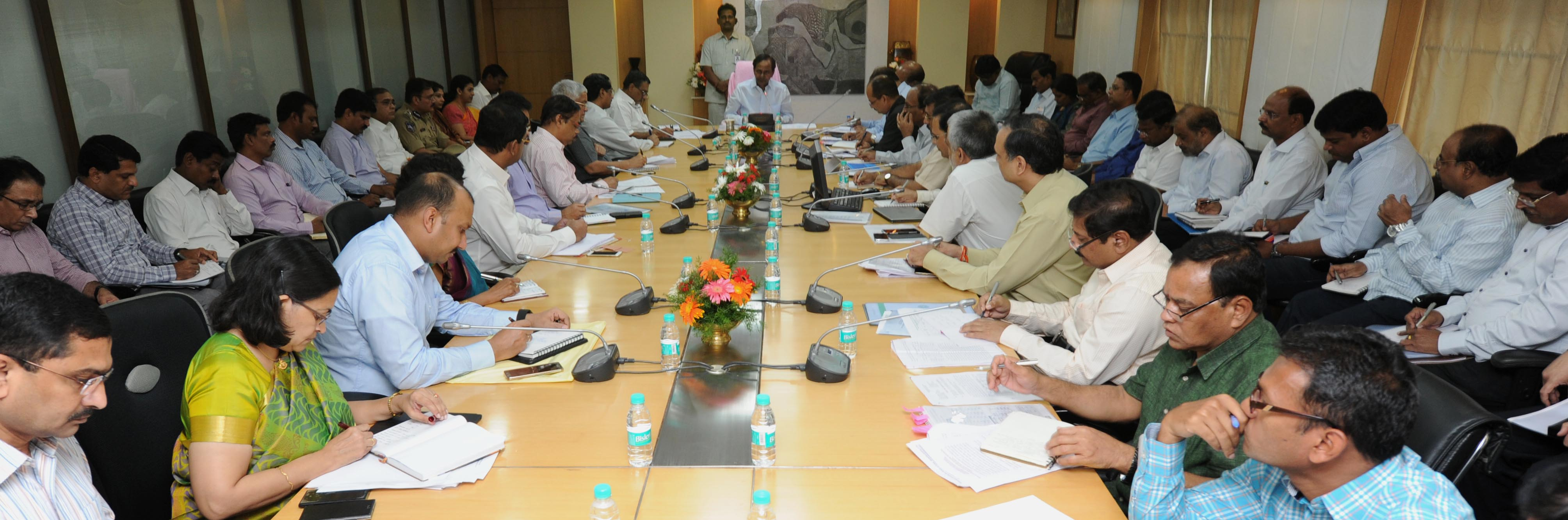 TS Chief Minister K.Chandrashekhar Rao Review on Telanganaku \
