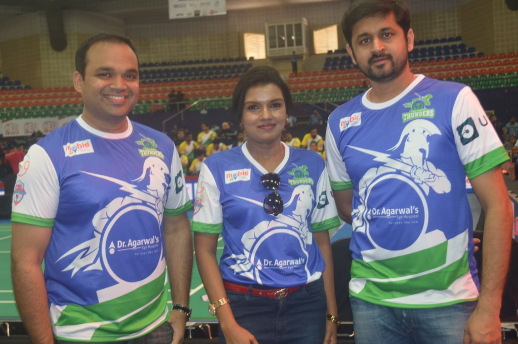 Hyderabad league matches of Celebrity Badminton League kicked off at Gachibowli stadium in city on 22.10.2016