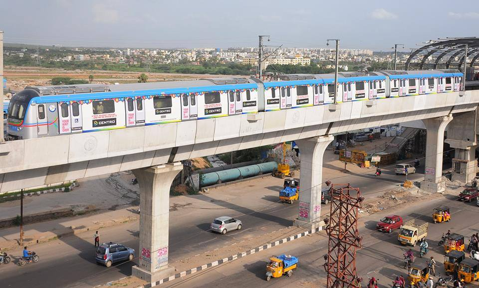 Hyderabad Metro begins test run on 7.8.2014 Gallery