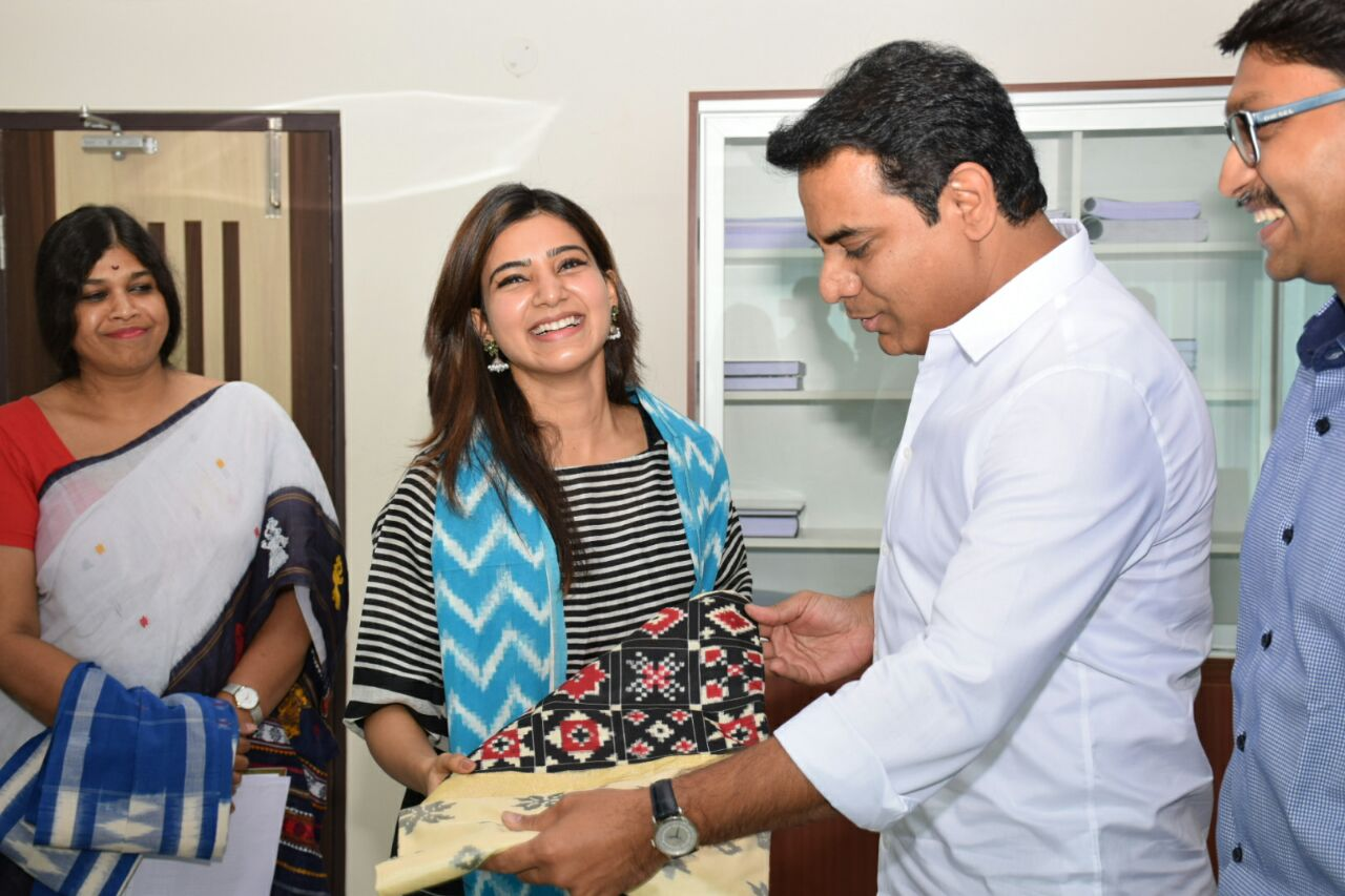 Actress Samantha to promote Telangana handlooms