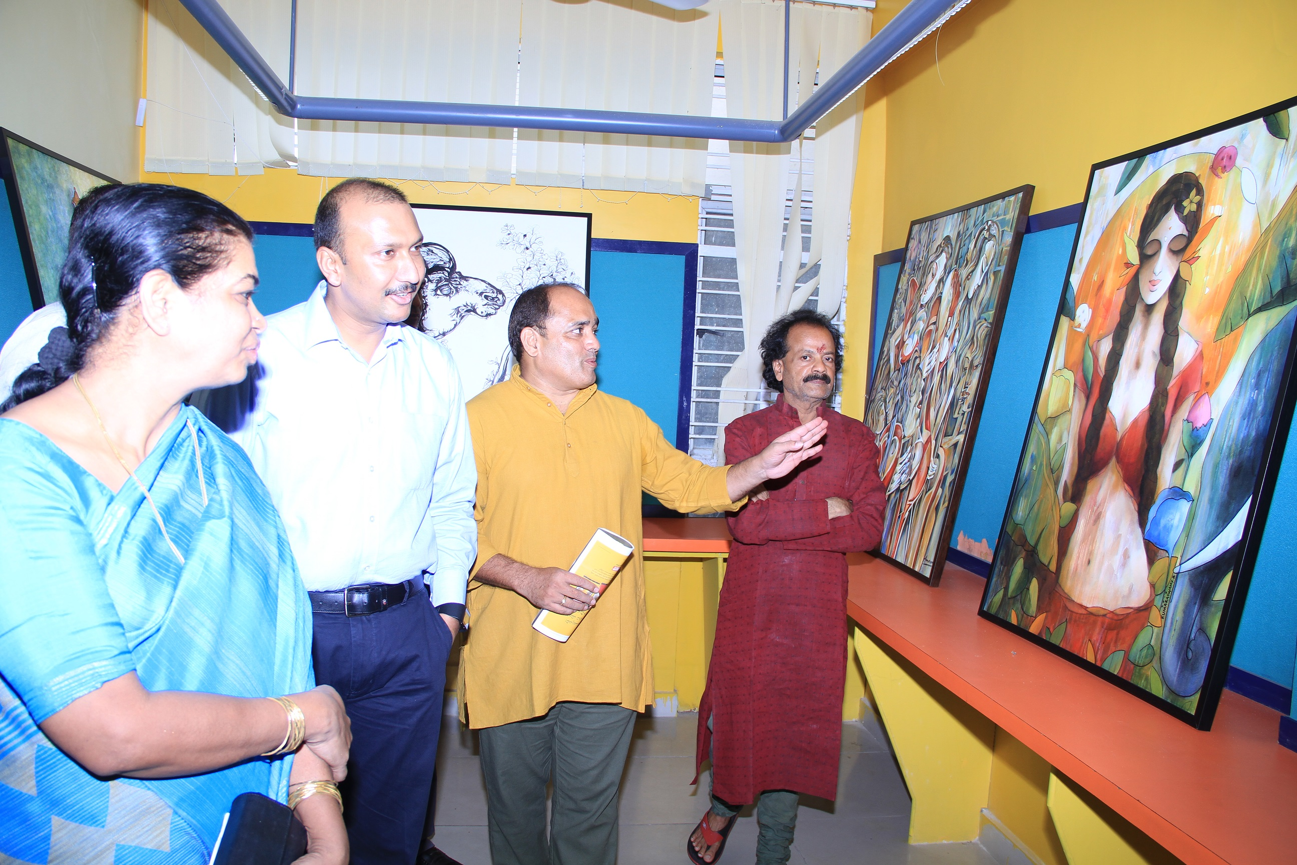 JNAFA University, School of Planning & Architecture - Painting Exhibition at Masab Tank was inaugurated by TS Information and Public Relations Commissioner Navin Mittal on 01.07.2016