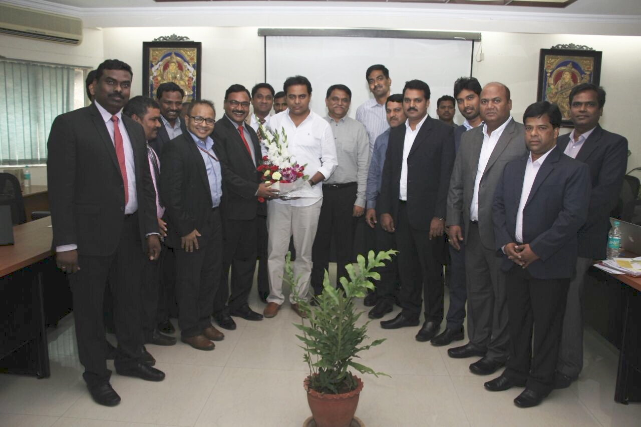 Telangana Minister KT Rama Rao meeting with DICCI representatives on 08-07-2016