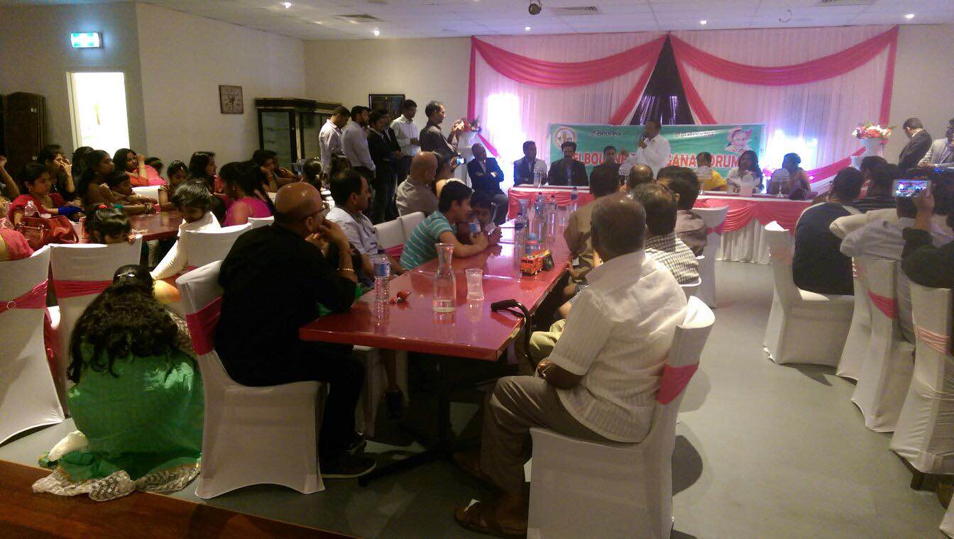 Melbourne telangana forum conducted a meet with Honarable ministrer Eetala Rajendher on 04-10-2015