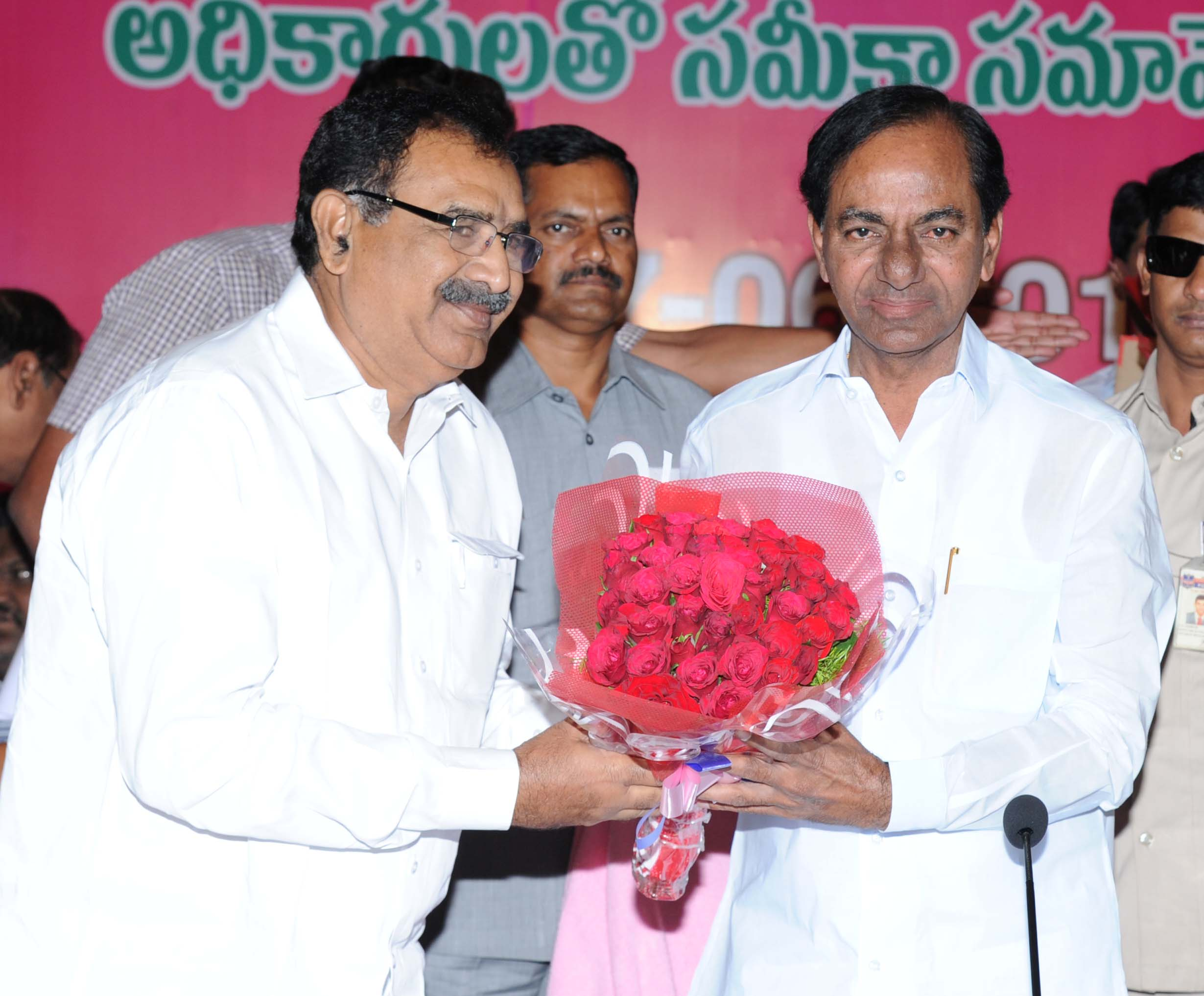 Telangana Chief Minister K.Chandrashekhar Rao\'s Review on State RTC at Marriat Hotel on 17.6.2016.