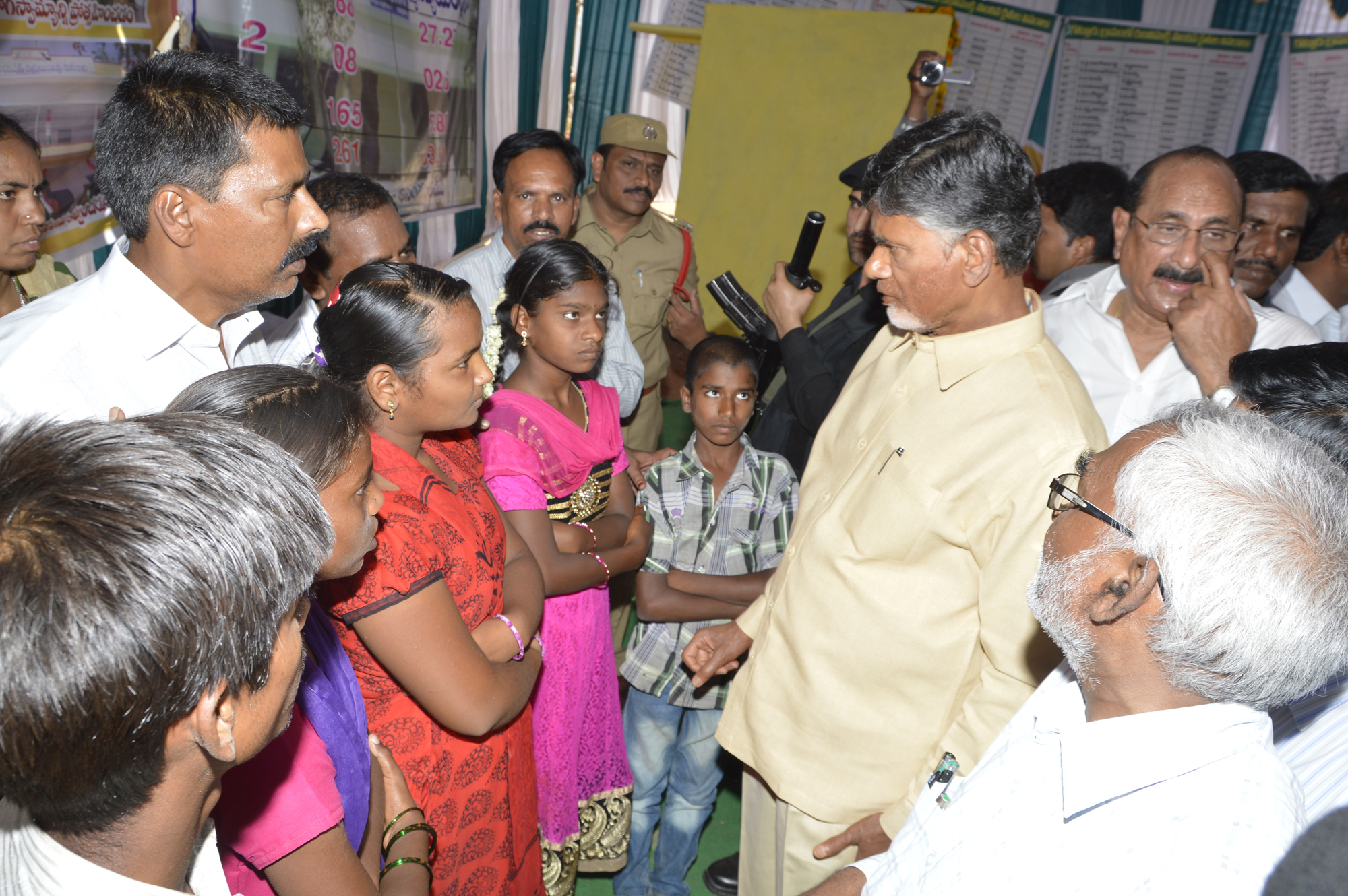 AP Chief Minister Narachandra Babu Naidu Visit Gotlur Village Darmavaram (M) on 3-6-2015