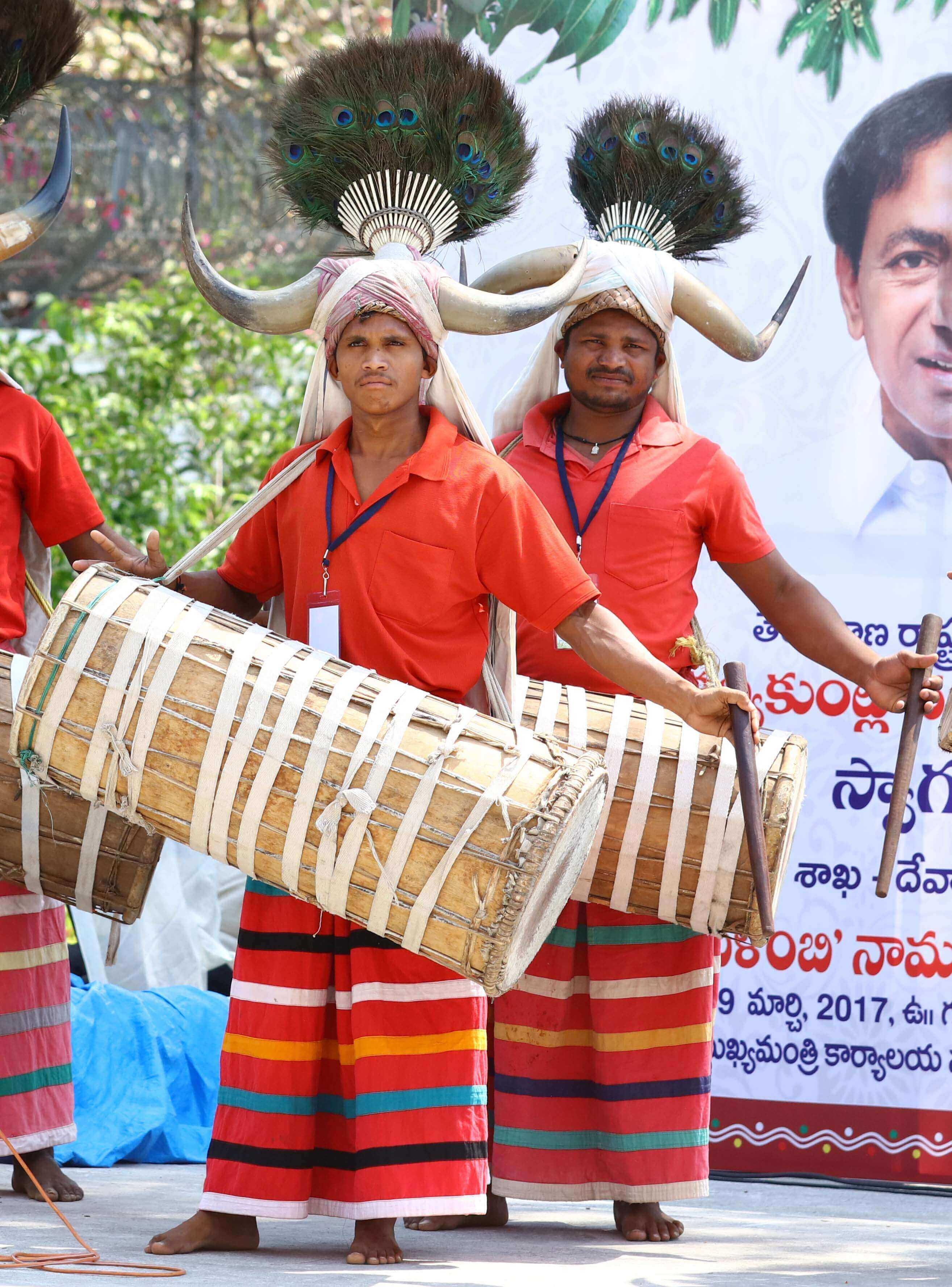 Telangana Chief Minister K Chandrashekhar Rao in Hevalambhi Ugadi Celebrations at Janahitha on 29-03-2017.