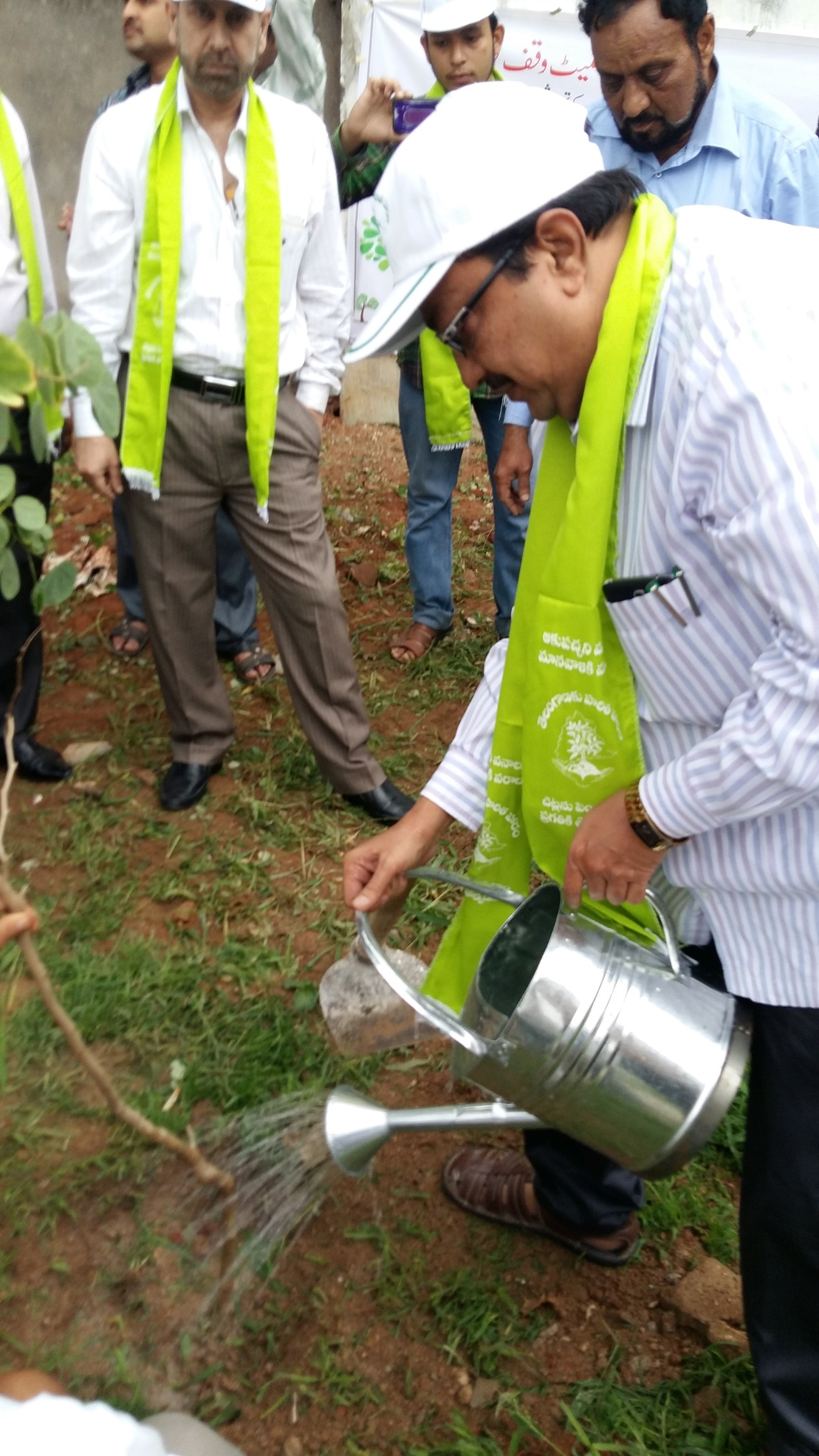Haritha Haram Programme at Telangana State Waqf Board on 11.07.2016
