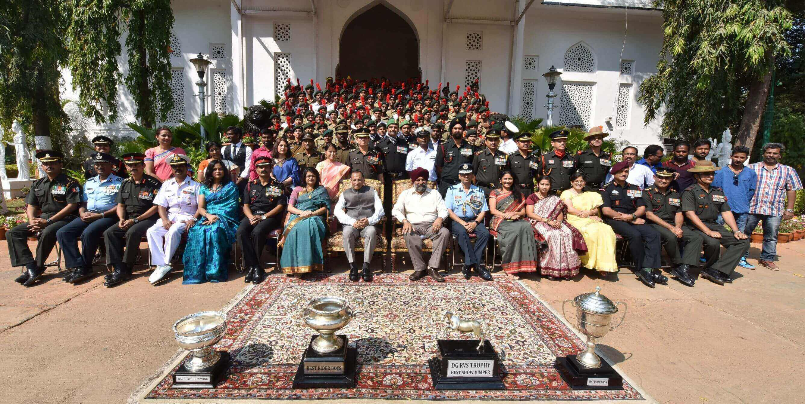 Governor ESL Narasimhan Participated In The 'At Home' Organized At Raj Bhavan To Felicitate NCC Cadets Who Participated In The Republic Day Camp 2017 Held At New Delhi, And Presented Medals To Winning Cadets. NCC Cadets Presented Cultural Dance Programmes On The Occasion.